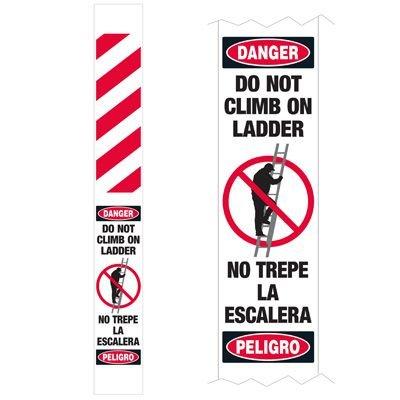Ladder Guard - Danger Do Not Climb On Ladder Bilingual
