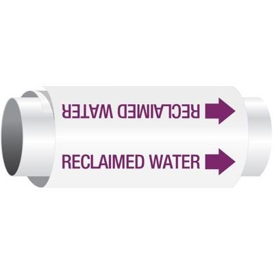 Setmark® Snap-Around Pipe Markers - Reclaimed Water