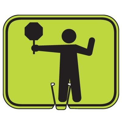 Traffic Cone Signs - Crossing Guard Symbol