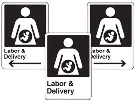 Health Care Facility Wayfinding Signs - Labor & Delivery