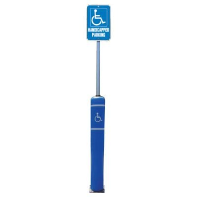 Flexible Bollard Sign Post Systems - Handicapped Parking Sign