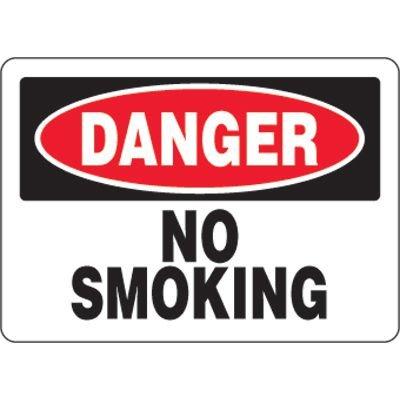 Eco-Friendly Signs - Danger No Smoking