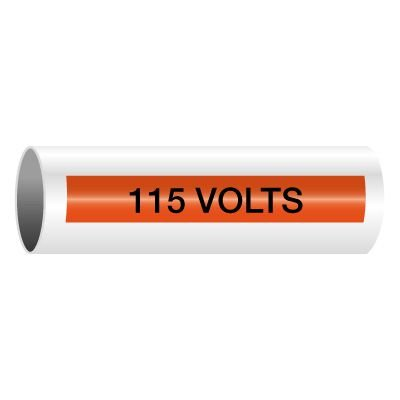 115 Volts - Self-Adhesive Electrical Markers