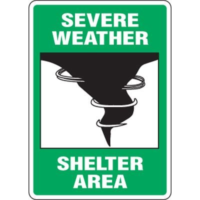 Eco-Friendly Signs - Severe Weather Shelter Area