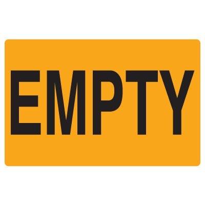 Fluorescent Warehouse & Pallet Labels - Empty