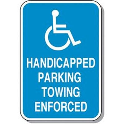 Symbol of Access Parking Signs - HANDICAPPED PARKING TOWING ENFORCED SIGN