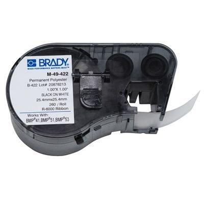 Brady M-49-422 BMP51/BMP41 Label Cartridge - Black on White