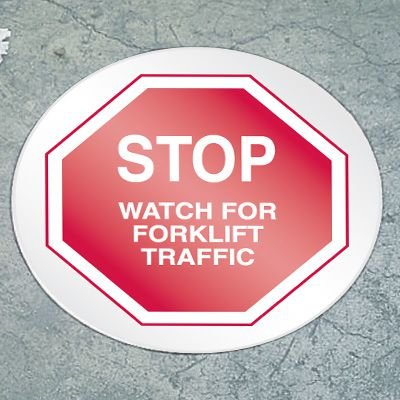 Stop Floor Marker - Forklift Traffic