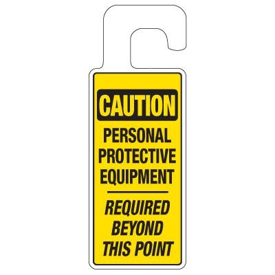 Door Knob Hangers - Personal Protective Equipment