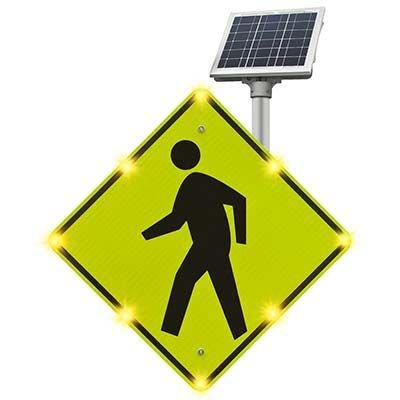 Blinker Sign® Flashing LED Pedestrian Crossing Sign