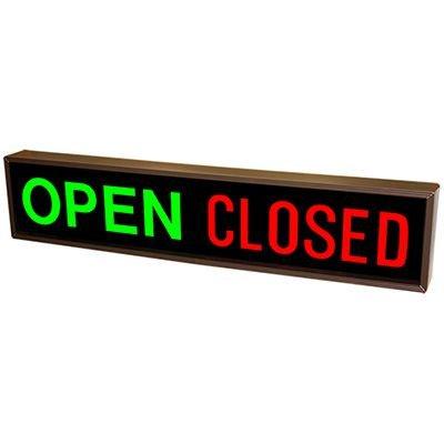 Horizontal Open  Closed Backlit LED Sign