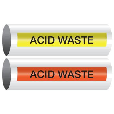Opti-Code™ Self-Adhesive Pipe Markers - Acid Waste