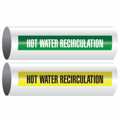 Opti-Code™ Self-Adhesive Pipe Markers - Hot Water Recirculation