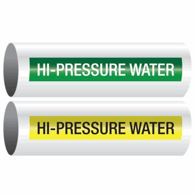 Opti-Code™ Self-Adhesive Pipe Markers - Hi-Pressure Water