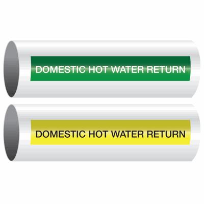 Opti-Code™ Self-Adhesive Pipe Markers - Domestic Hot Water Return
