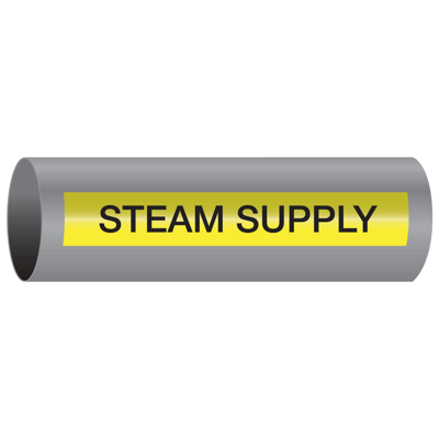 Xtreme-Code™ Self-Adhesive High Temperature Pipe Markers - Steam Supply