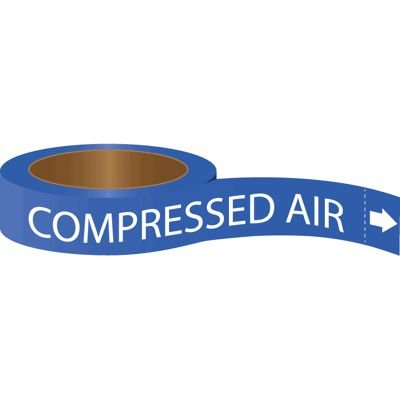 Roll Form Self-Adhesive Pipe Markers - Compressed Air