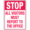 Automatic Gate Security Signs- All Visitors