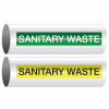 Opti-Code™ Self-Adhesive Pipe Markers - Sanitary Waste