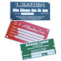 Custom Screen-Printed Aluminum Nameplates