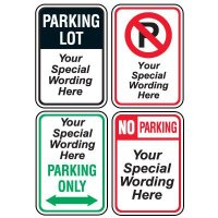 Semi-Custom Worded Parking Signs