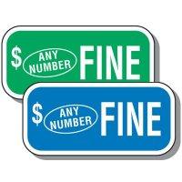 Custom Add-On Parking Fine Sign