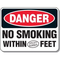 Semi-Custom No Smoking Safety Signs