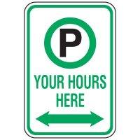 Rapid-Ship Custom Parking Signs - Parking Symbol