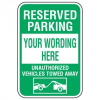 Rapid-Ship Custom Parking Signs - Reserved Parking