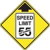 Semi-Custom Warning Signs - Speed Limit
