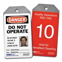 Semi-Custom ToughWash™ Encapsulated Plastic Tags