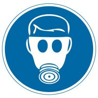 International Symbols Labels - Wear Respiratory Protection (Graphic)