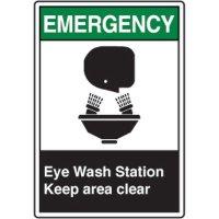 ANSI Safety Signs - Emergency Eye Wash Station
