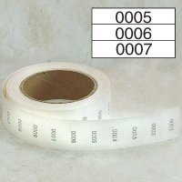 Stock Consecutively Numbered Labels