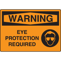 Warning - Eye Protection Required Sign