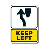 Traffic Pattern Sign - Keep Left