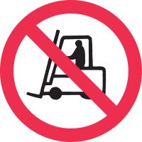 International Symbols Labels - No Forklift Trucks