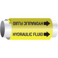 Setmark® Snap-Around Pipe Markers - Hydraulic Fluid