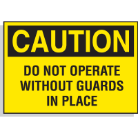 Hazard Warning Labels - Caution Do Not Operate