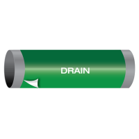 Ultra-Mark® Snap-Around High Performance Pipe Markers - Drain