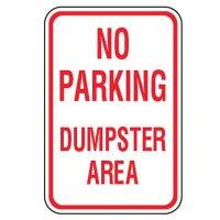 No Parking Signs - No Parking Dumpster Area