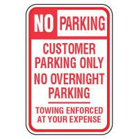 No Parking Signs - No Parking Customer Only