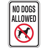 No Dogs Allowed Sign - With Graphic