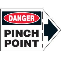 Machine Safety Arrow Labels - Danger Pinch Point