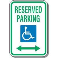 Handicap Parking Signs - Reserved Parking (Double Arrow)