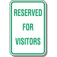 Visitor Parking Signs - Reserved For Visitors