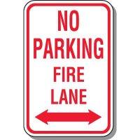 Fire Lane Signs - No Parking Fire Lane (Double Arrow)