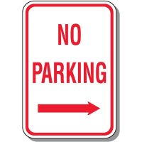 No Parking Signs - No Parking (Right Arrow)