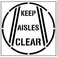 Floor Stencils - Keep Aisles Clear