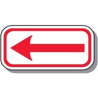 No Parking Signs - One-Way Arrow